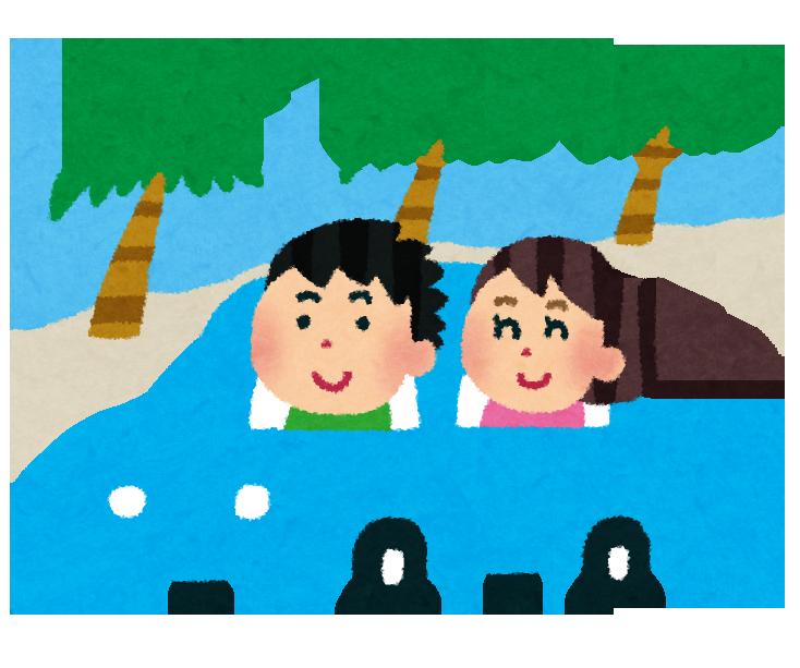 海沿いをクルマでドライブデート