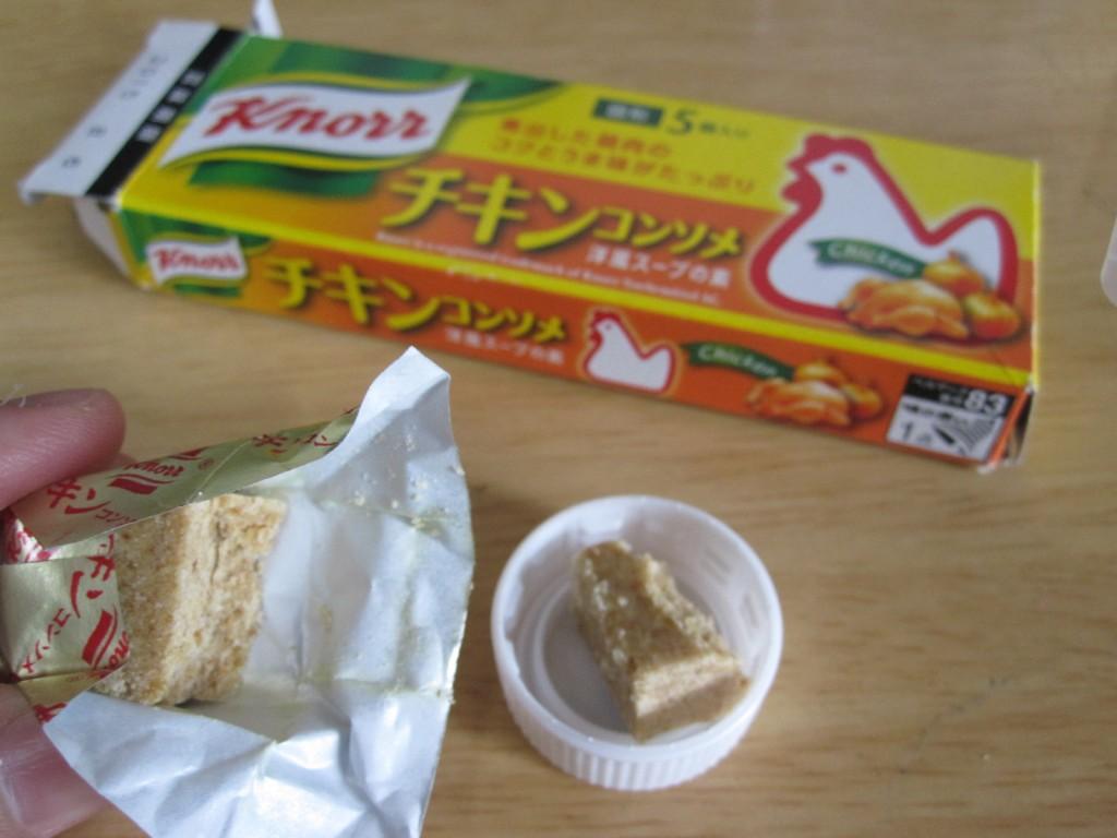 罠に設置する餌(Knorr チキンコンソメ)