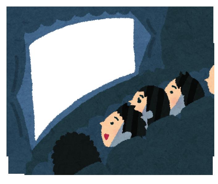 映画館(劇場版)のスクリーンと観客