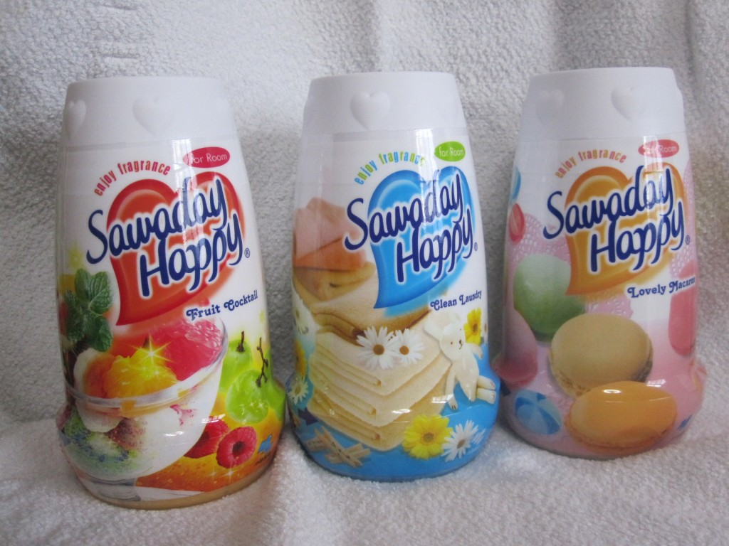 カラフルなSawaday Happyの芳香剤
