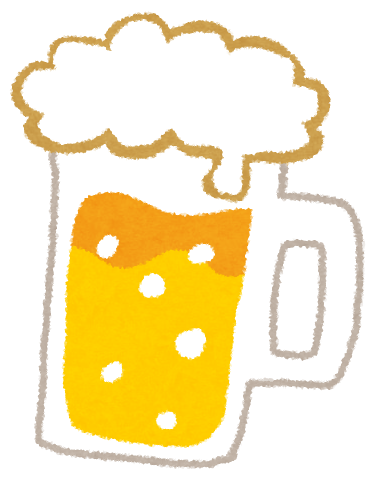 ビールジョッキになみなみと注がれた生ビール