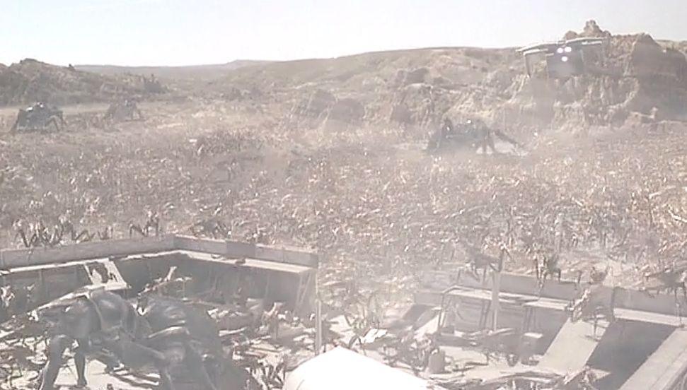 応戦するもバグに占拠された基地の俯瞰図
