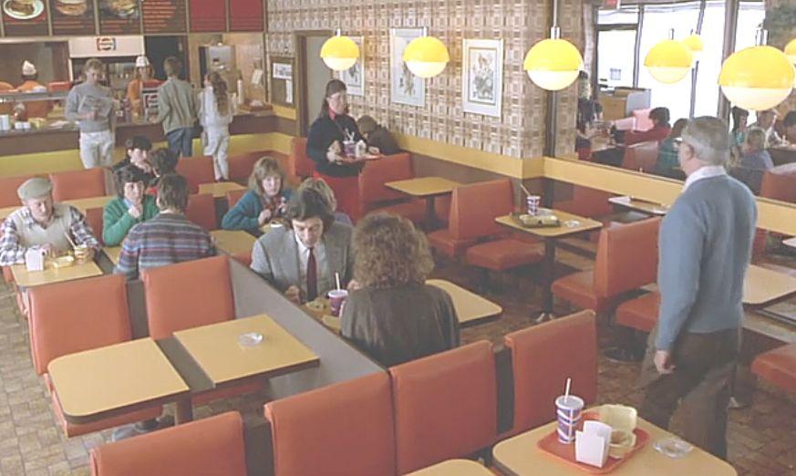 当時のアメリカのレトロな雰囲気のカフェ
