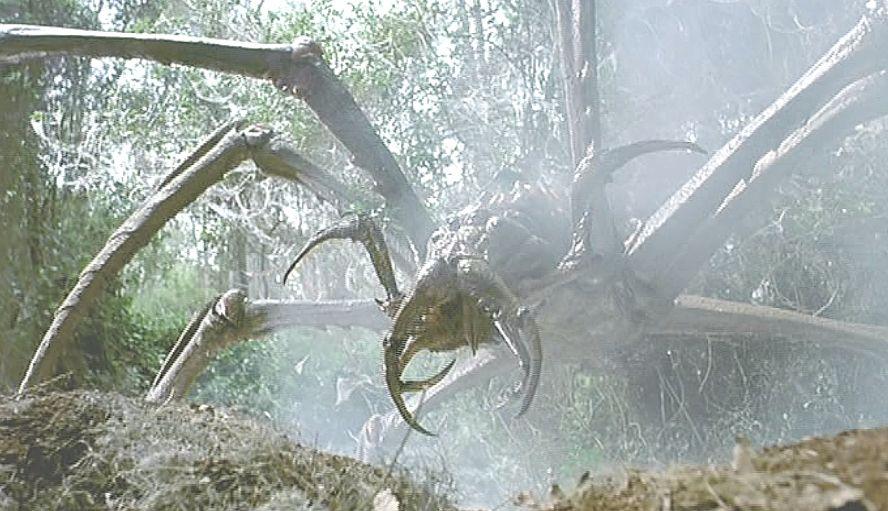 出たー!巨大な蜘蛛のような化物!モンスター登場!