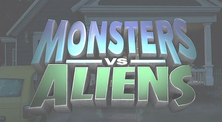 映画タイトルロゴ『MONSTERS-VS-ALIENS』
