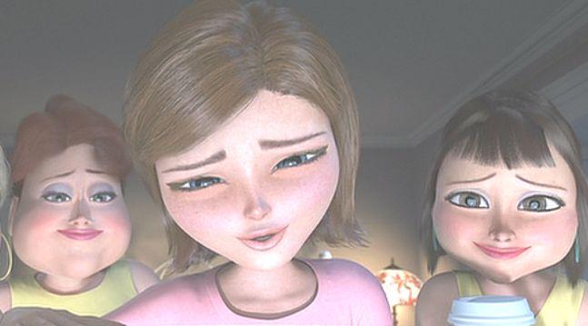 テレビ画面に見惚れる美女が主人公のスーザン(ジャイノミカ)