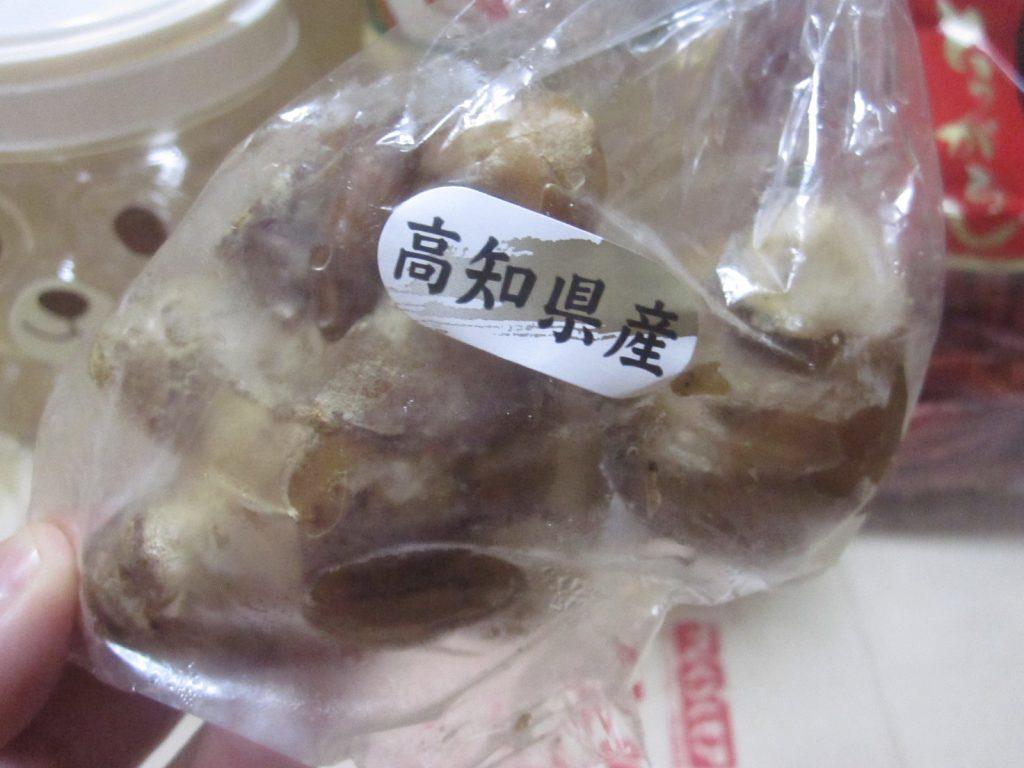 中国産のニンニクではなくて国産(高知県)の生姜ショウガを用意