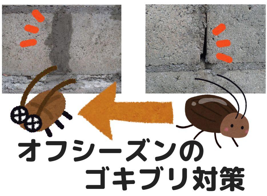 外壁、ブロック塀の隙間や穴を塞ぐことがゴキブリ対策になる!