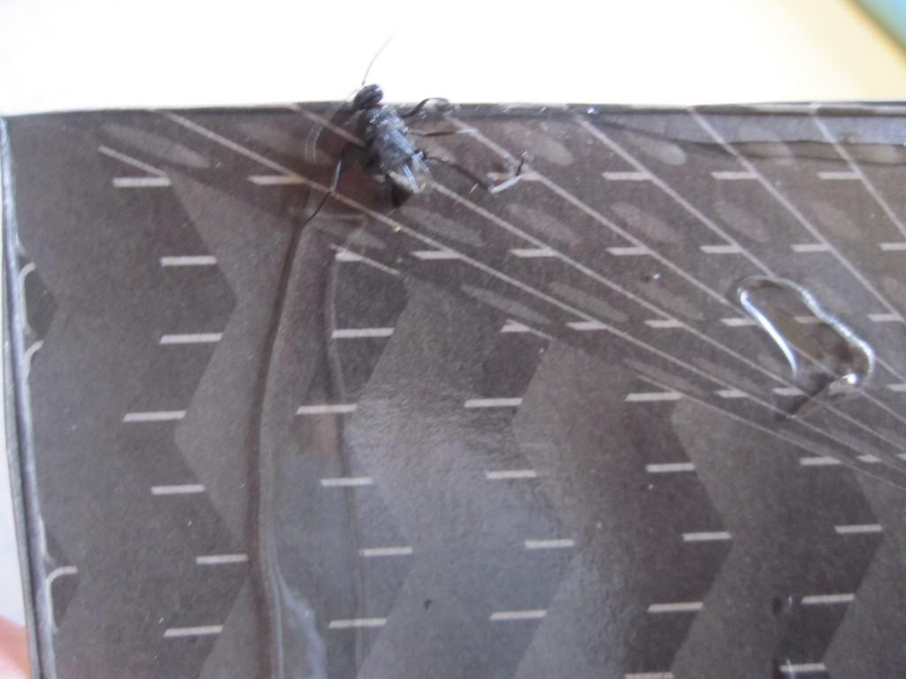 昆虫が罠に掛かった粘着シート