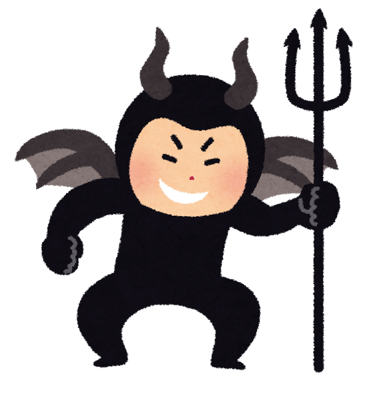 悪魔の格好をした男性