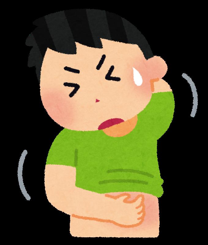 蕁麻疹の痒みに苦しむ男性