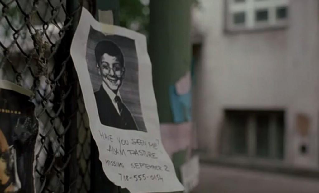 行方不明になった少年の張り紙