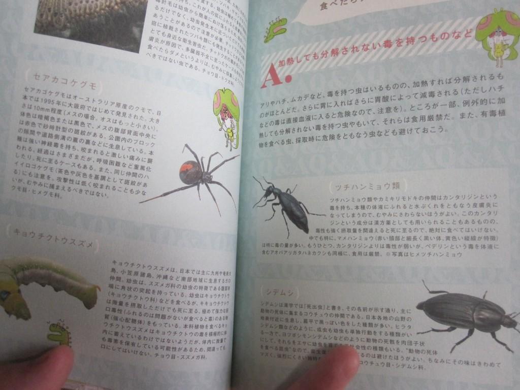 食べたり近づくと危険な虫