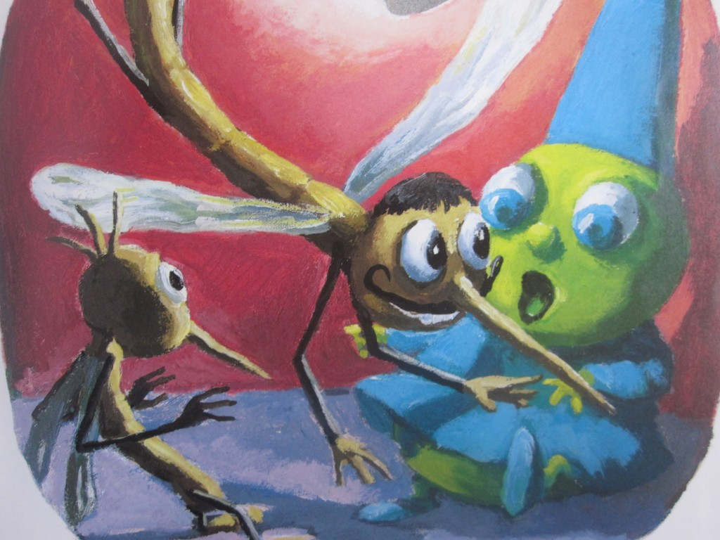 昆虫たちの危機をユーモラスに描いた場面