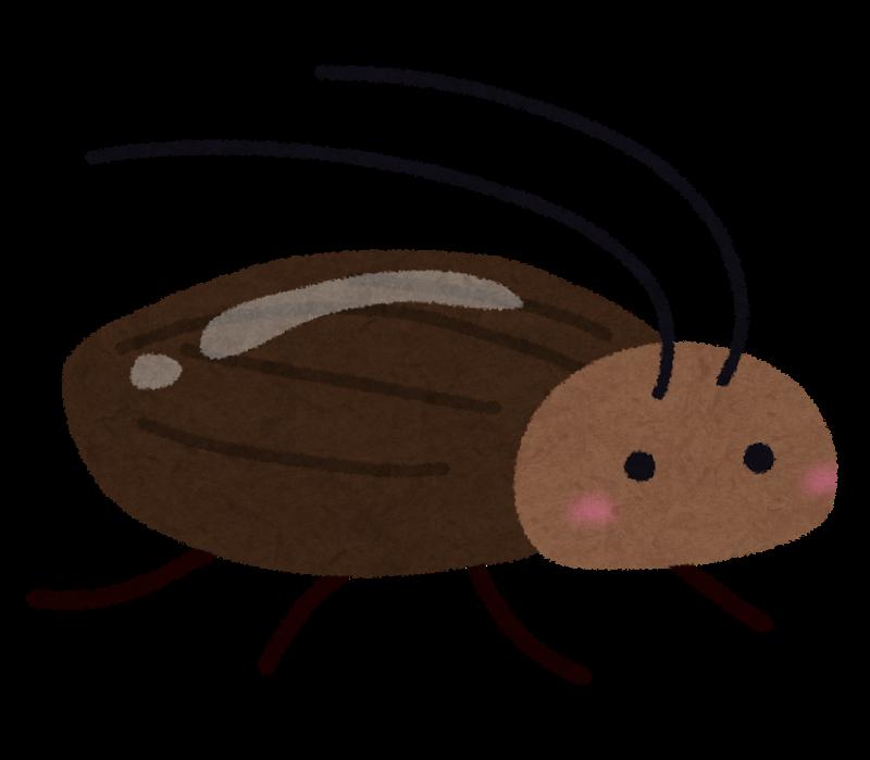 可愛らしいイラストの害虫ゴキブリ
