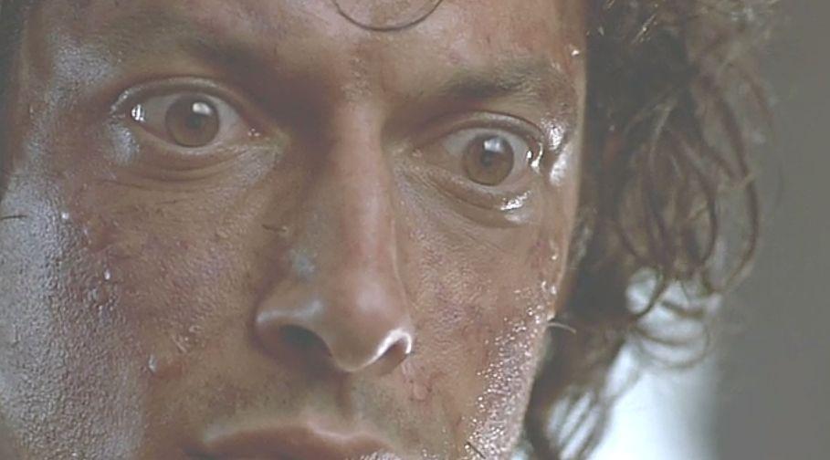 自分が蝿(ハエ)と合体した事実に愕然とし驚愕するセルの表情