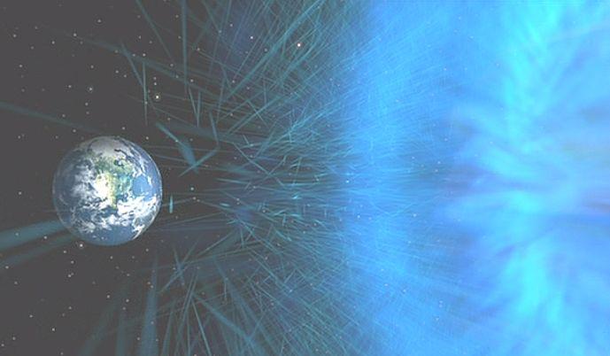 宇宙空間の果てから地球に向けて飛んできた惑星の破片?隕石?