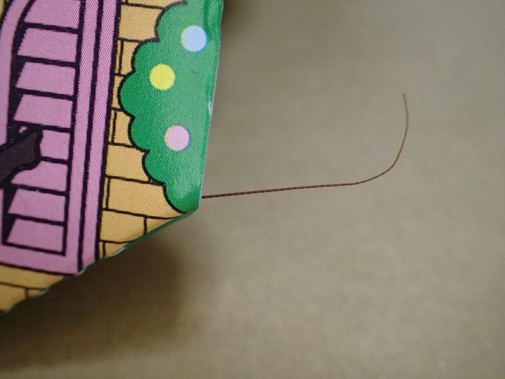 ごきぶりホイホイの屋根からチョロっとはみ出したオケケを発見(笑)!